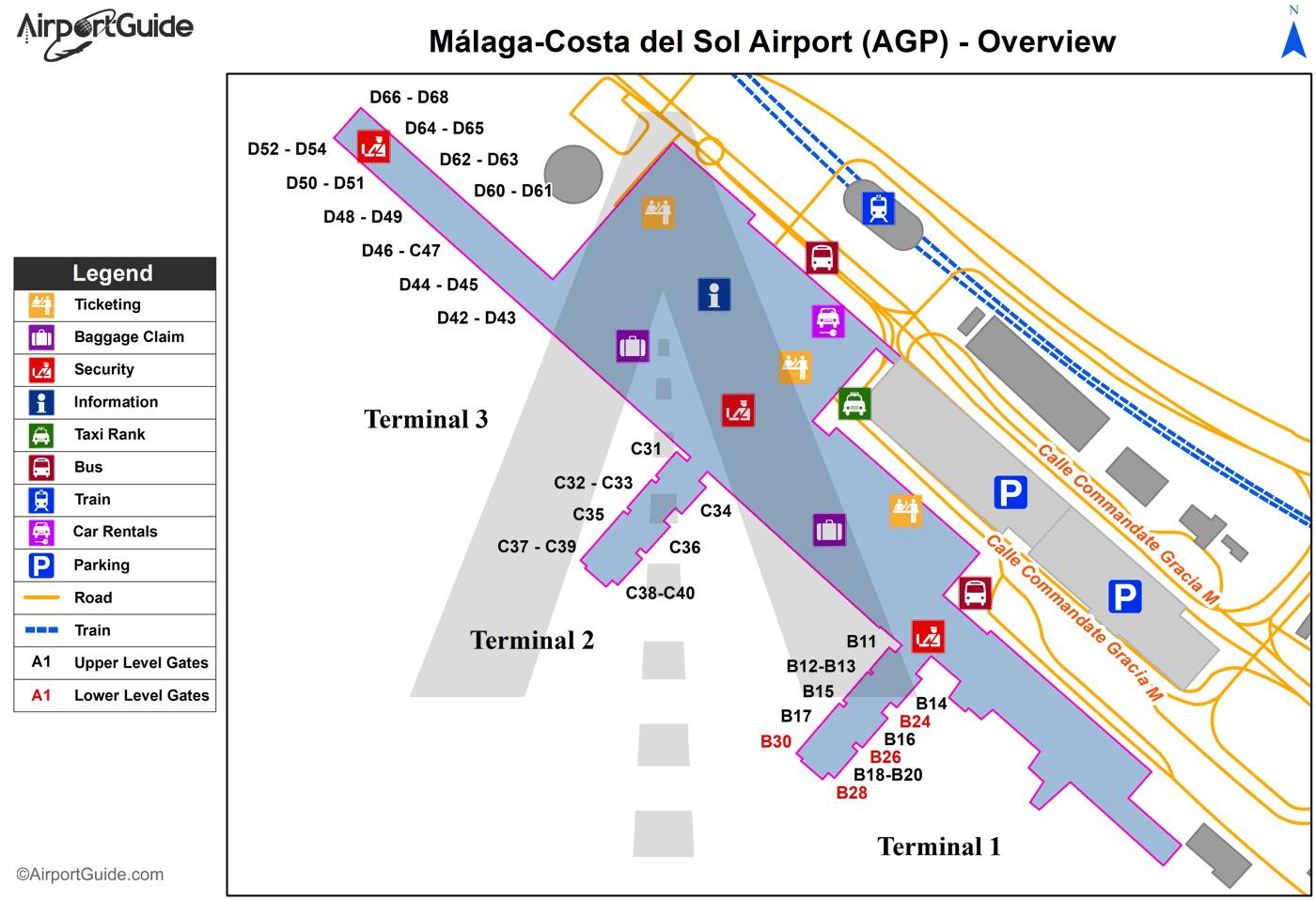 Аэропорт малага схема