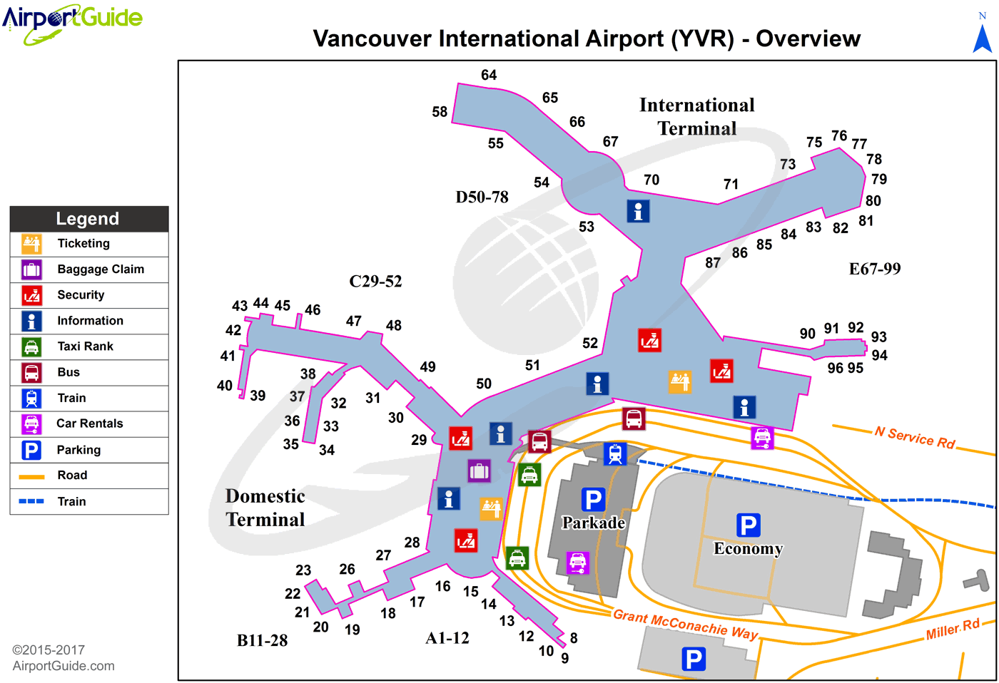Vancouver Vancouver International Yvr Airport Terminal