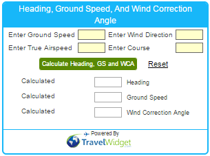 Heading, Ground Speed, And Wind Correction Angle