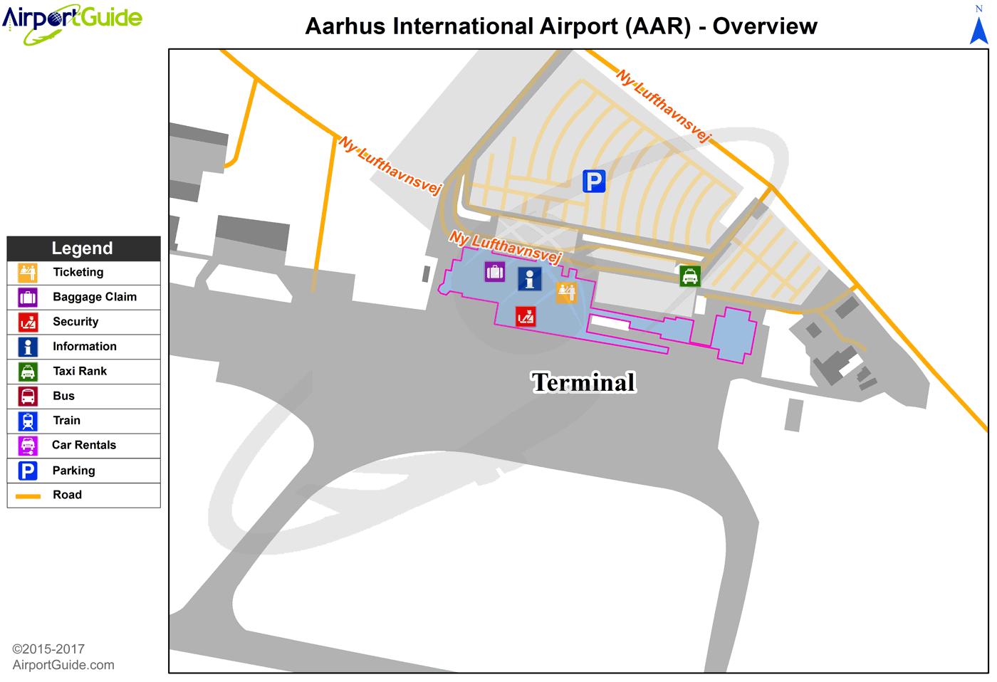 Aarhus Aarhus AAR Airport Terminal Maps TravelWidgetcom