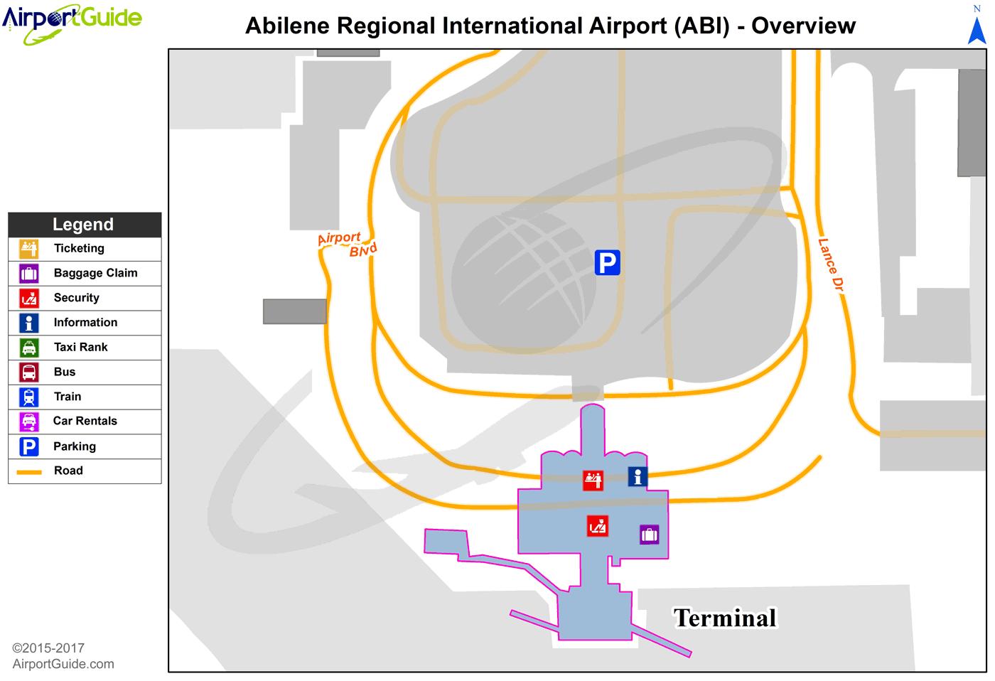 Abilene Abilene Regional ABI Airport Terminal Maps