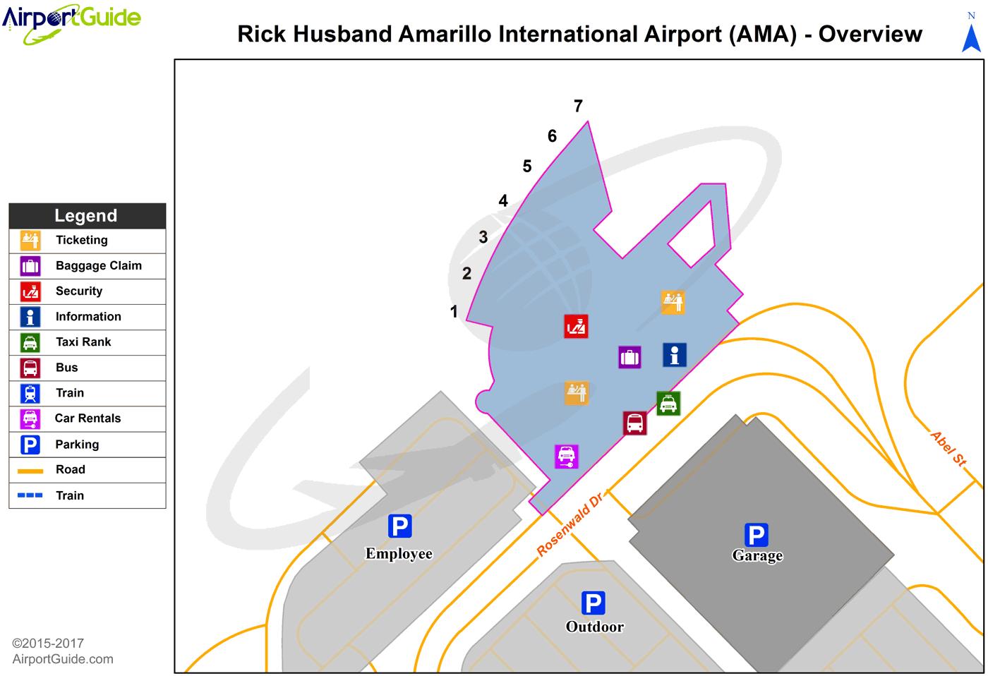 Amarillo Airport Map Amarillo   Rick Husband Amarillo International (AMA) Airport