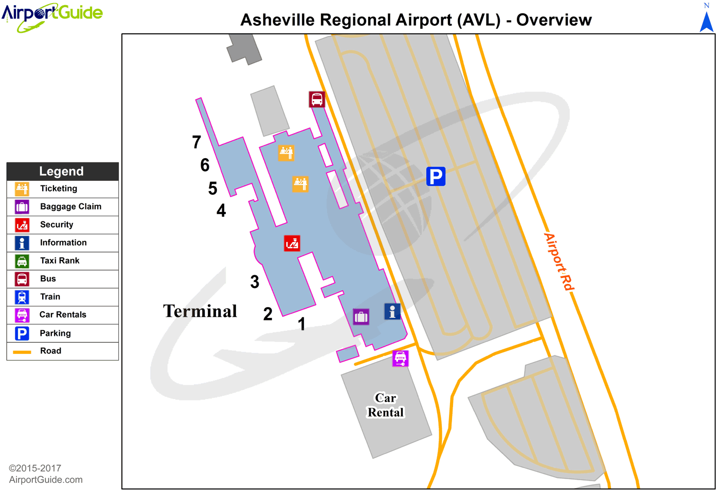 Asheville - Asheville Regional (AVL) Airport Terminal Maps ... on map of wingate university, map of lenoir city, map of matthews, map of buncombe county, map of brookings, map of beatrice, map of kenansville, map of otto, map of great smoky mountain railroad, map of chimney rock state park, map of whiteville, map of burgaw, map of easley, map of shaw university, map of north palm beach county, map of eatonton, map of cornelia, map of carlinville, map of kernersville, map of north carolina,
