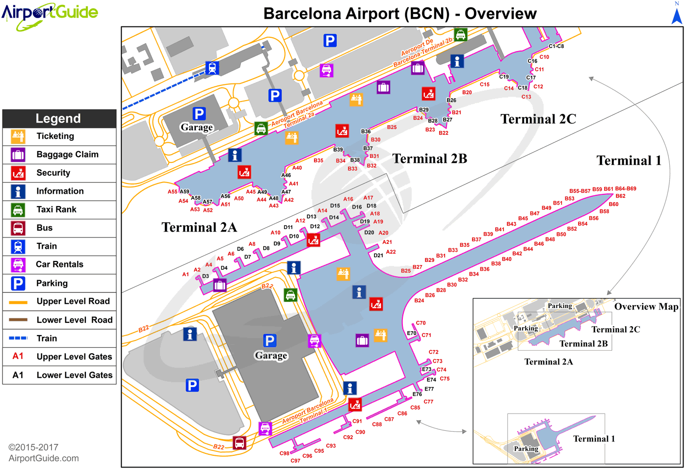 Barcelona Airport On Map Barcelona   Barcelona International (BCN) Airport Terminal Maps