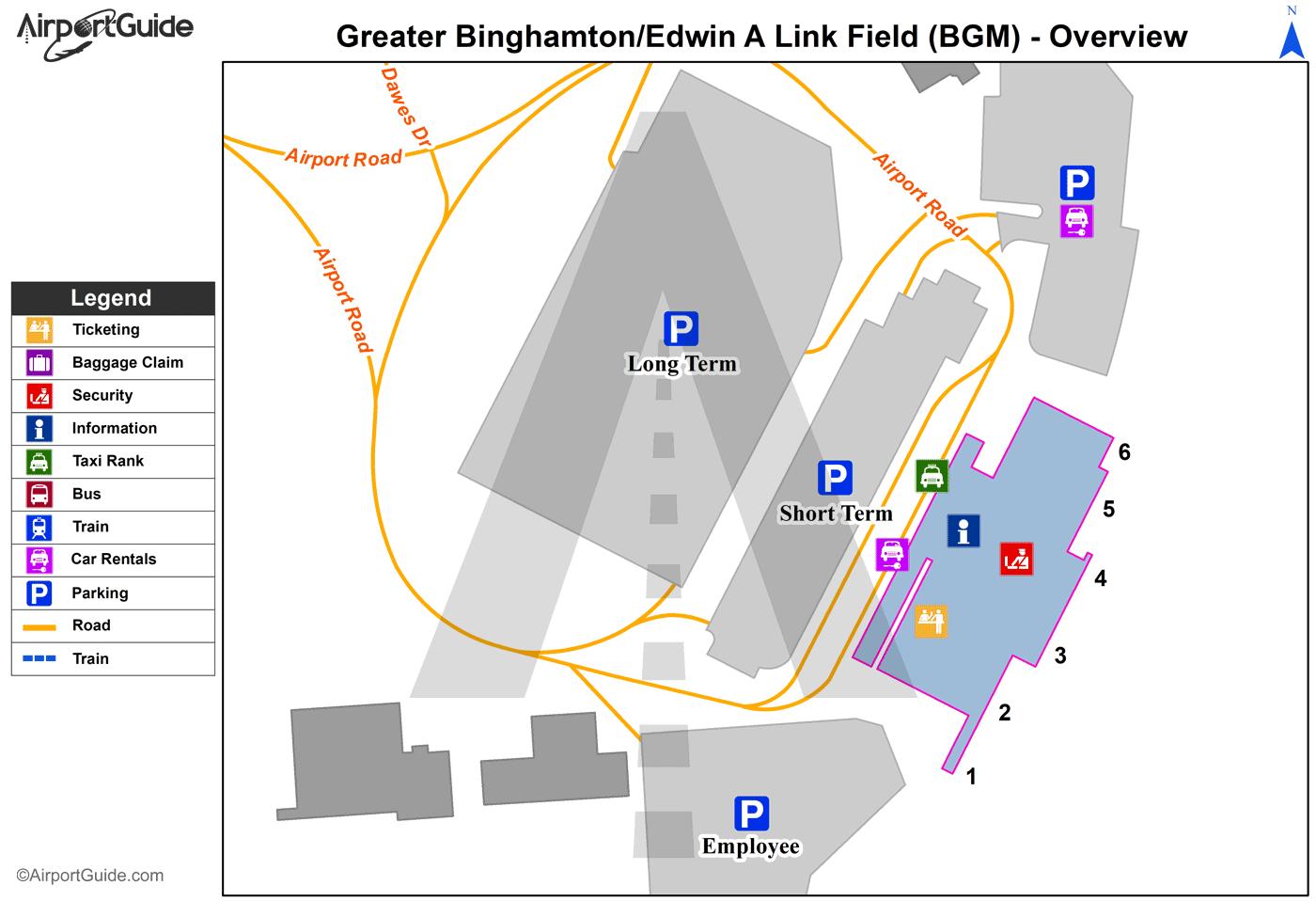 Binghamton - Greater Binghamton/Edwin A Link Field (BGM) Airport ...