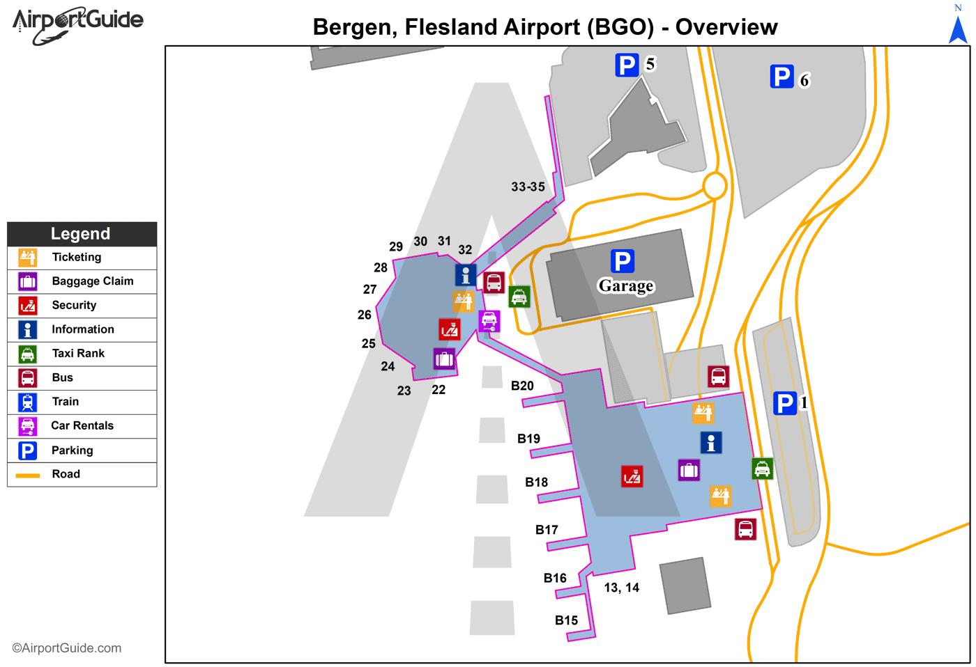 bergen airport terminal map Bergen Bergen Flesland Bgo Airport Terminal Maps bergen airport terminal map