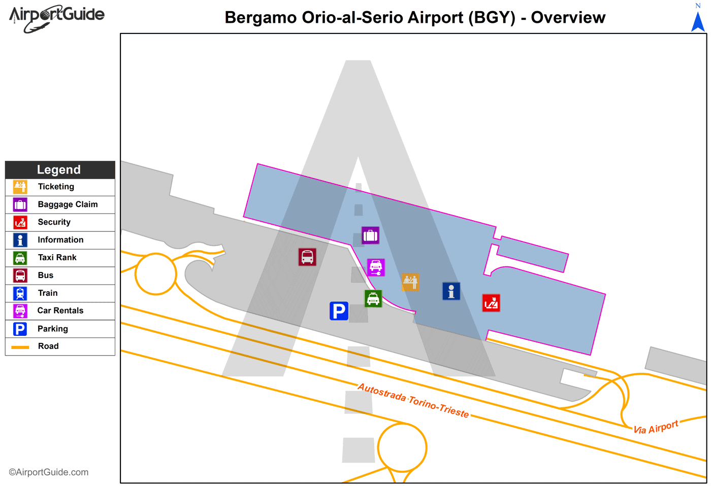 Airport Orio Al Serio : Bergamo orio al serio bgy airport terminal