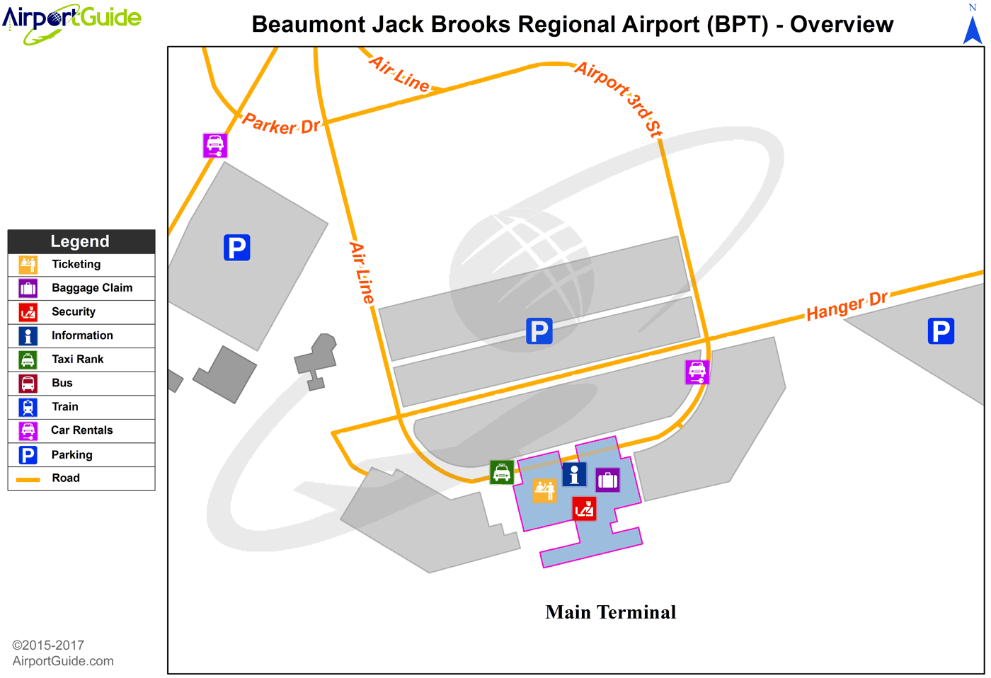 BeaumontPort Arthur Jack Brooks Regional BPT Airport Terminal