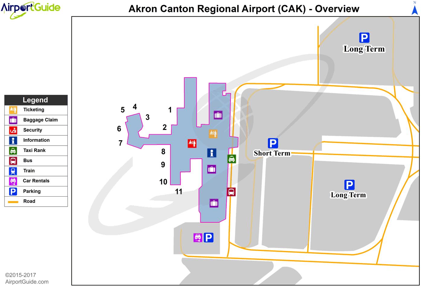 Cak Airport Map Akron   Akron Canton Regional (CAK) Airport Terminal Maps