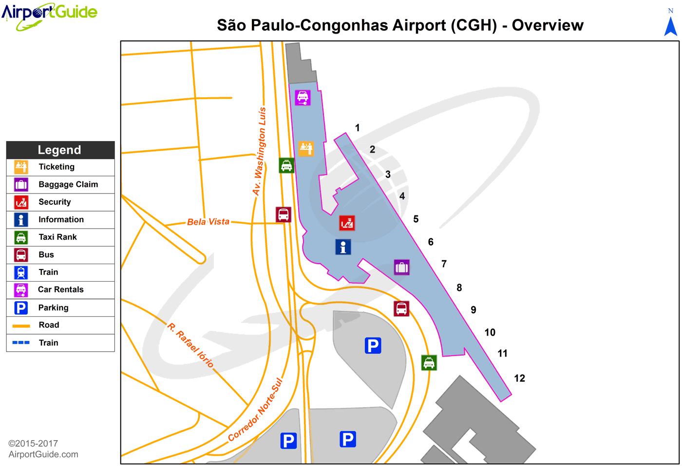 So Paulo So PauloCongonhas CGH Airport Terminal Maps