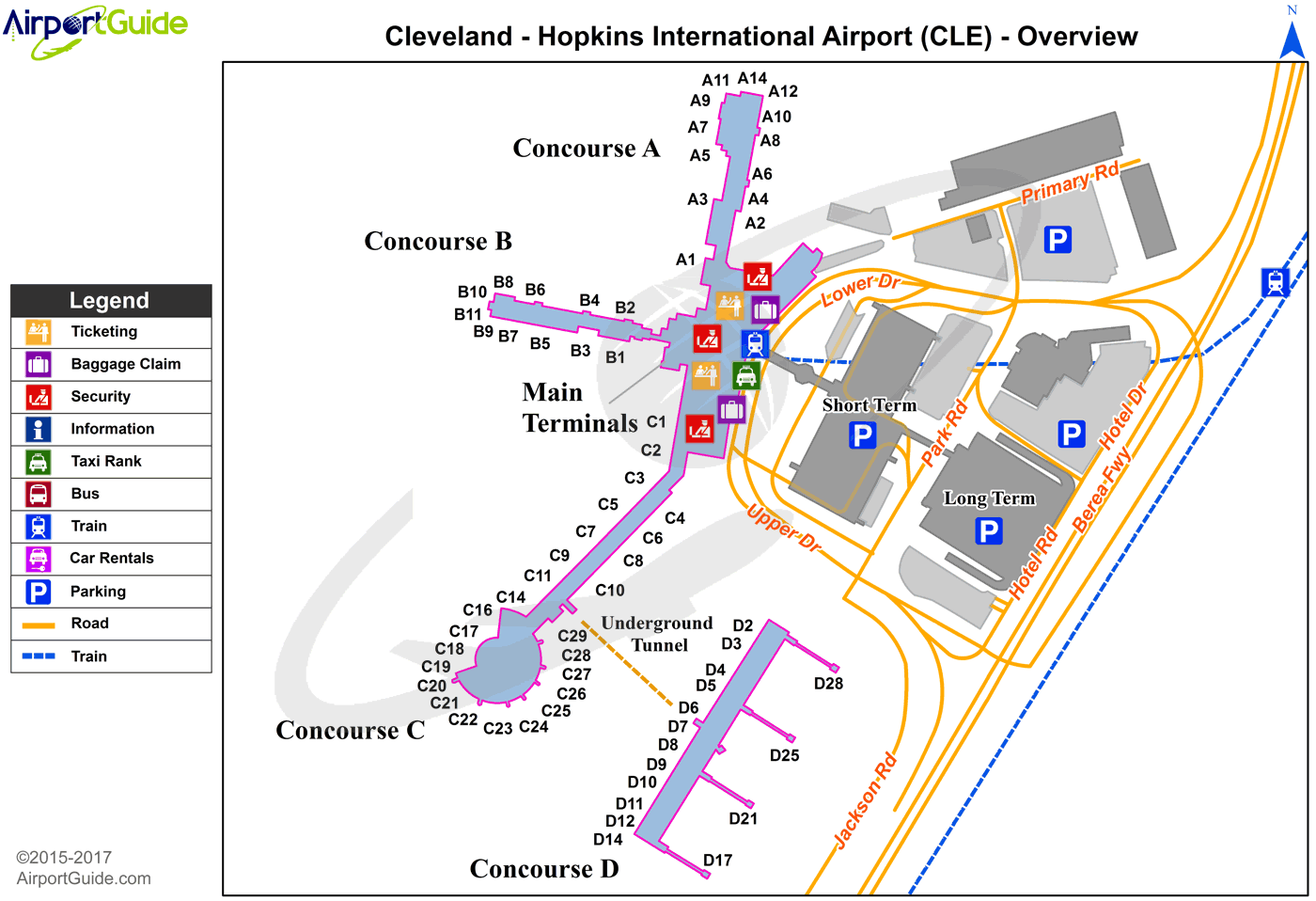 Cleveland Airport Terminal Map Cleveland   Cleveland Hopkins International (CLE) Airport Terminal