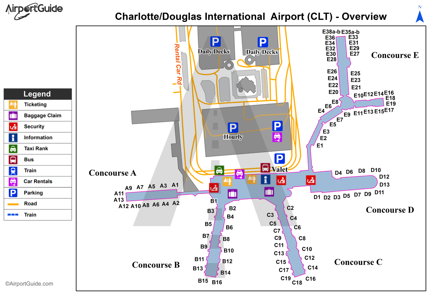 Map Charlotte Nc Airport Charlotte   Charlotte/Douglas International (CLT) Airport Terminal