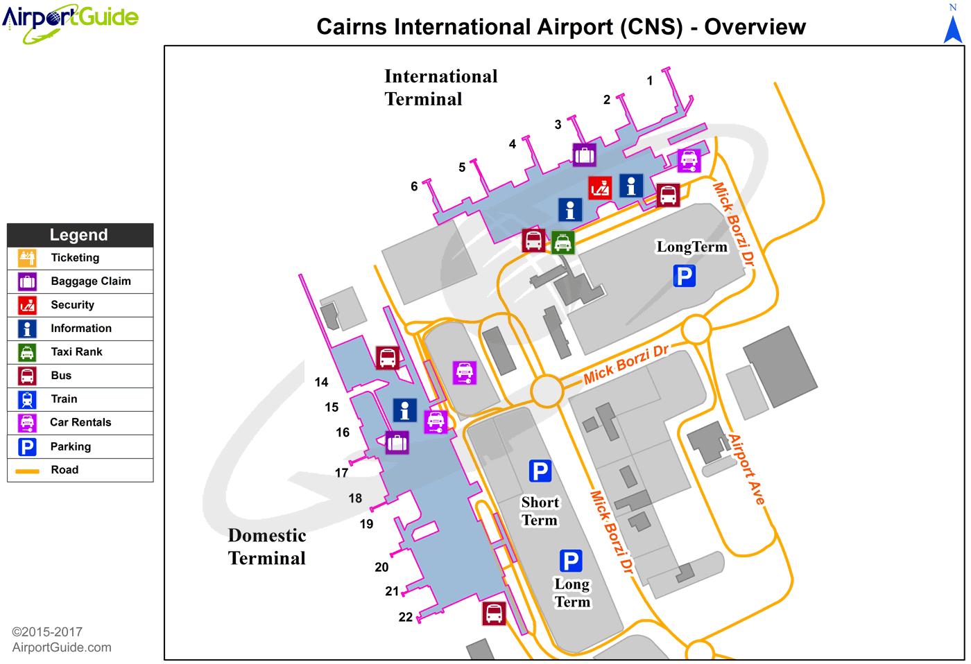 Cairns Cairns International CNS Airport Terminal Maps