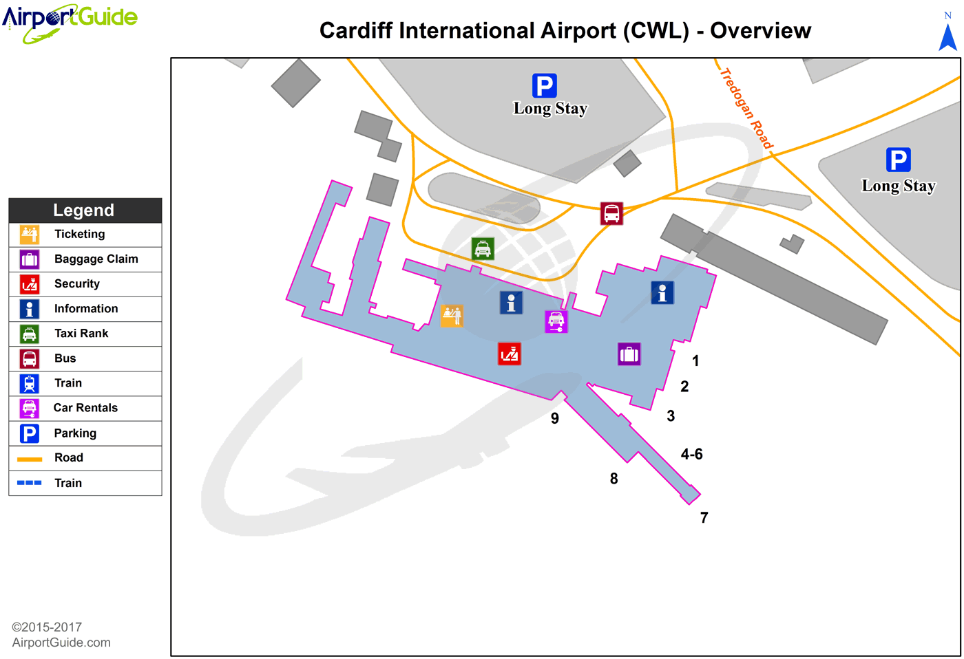 Cardiff Airport Map Cardiff   Cardiff International (CWL) Airport Terminal Maps  Cardiff Airport Map