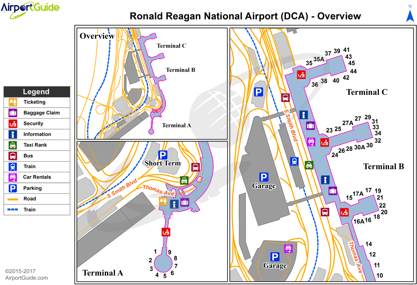 Dca Airport Map Washington   Ronald Reagan Washington National (DCA) Airport  Dca Airport Map