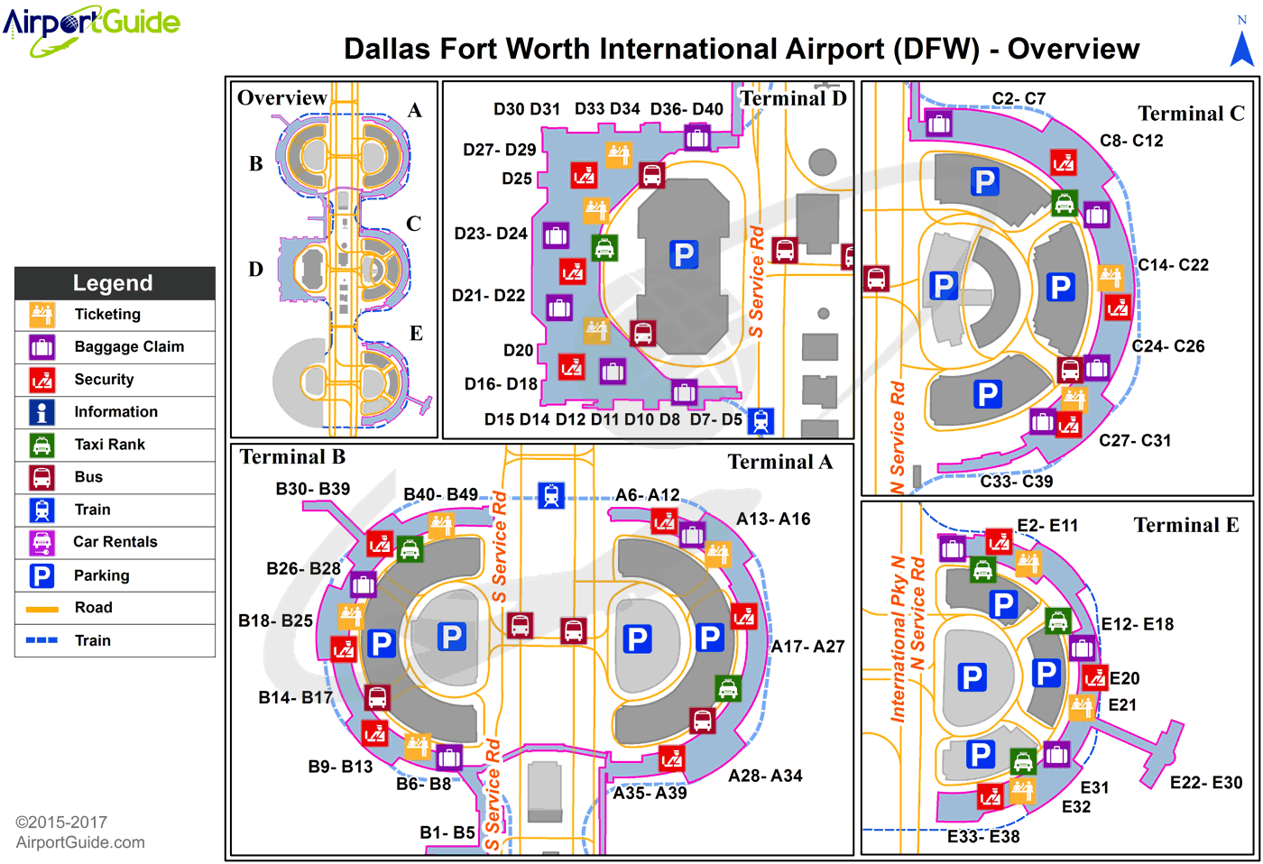 Map Of Dfw Airport Terminals Dallas Fort Worth   Dallas/Fort Worth International (DFW) Airport