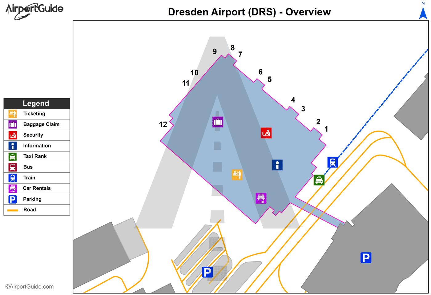 Dresden Dresden DRS Airport Terminal Maps TravelWidgetcom