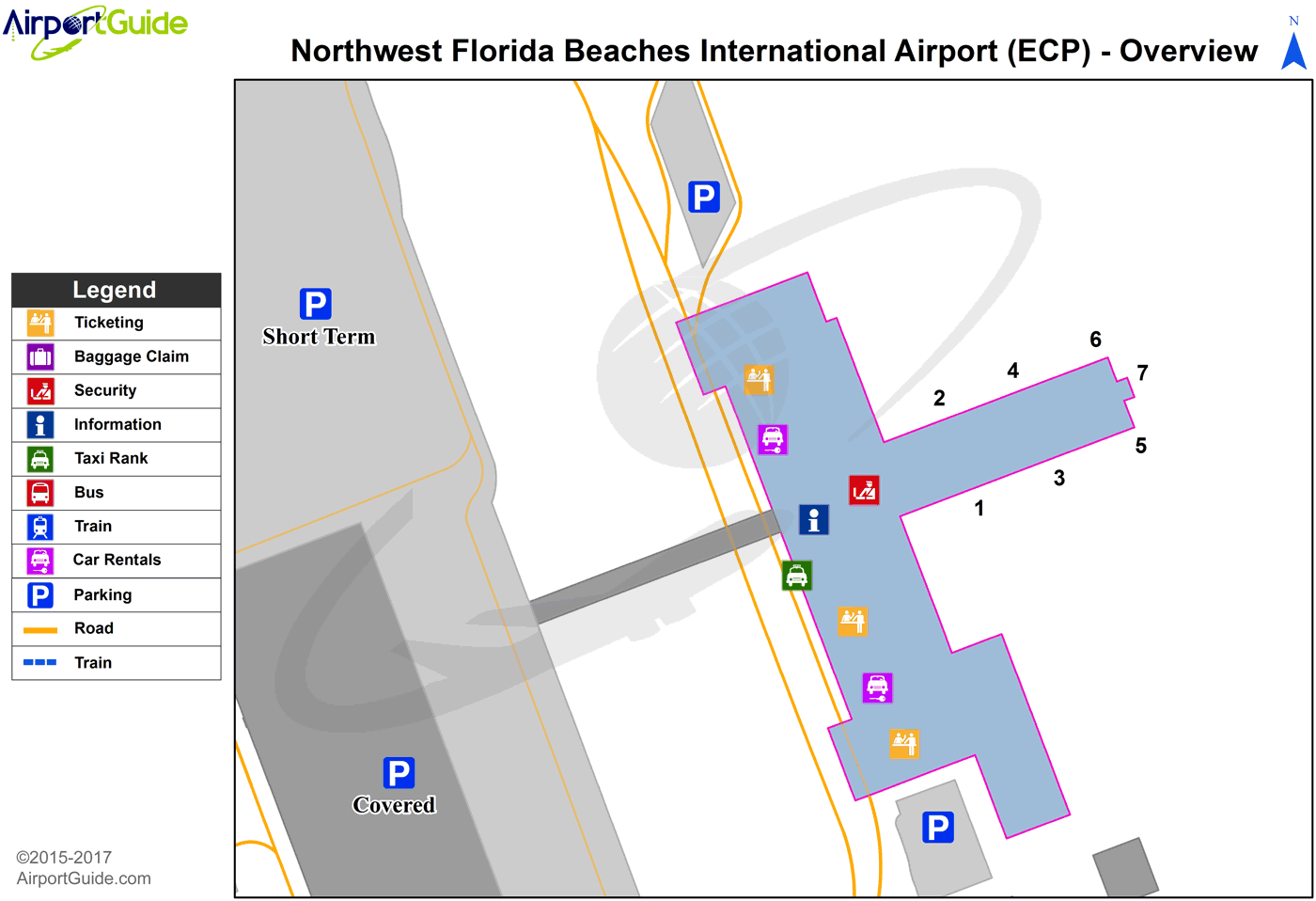 Northwest Florida Map.Panama City Northwest Florida Beaches International Ecp Airport