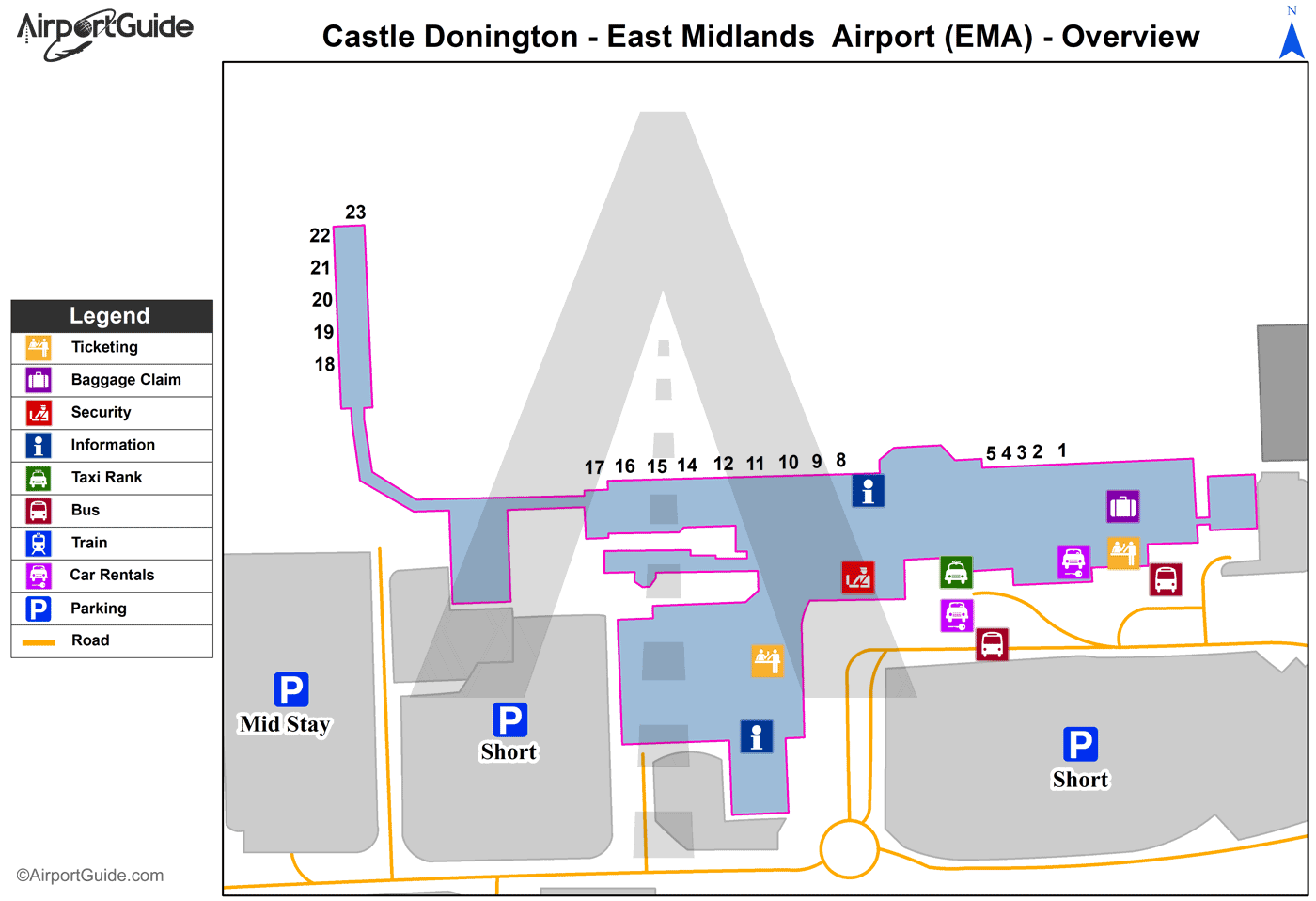 East Midlands Airport Car Park  Map