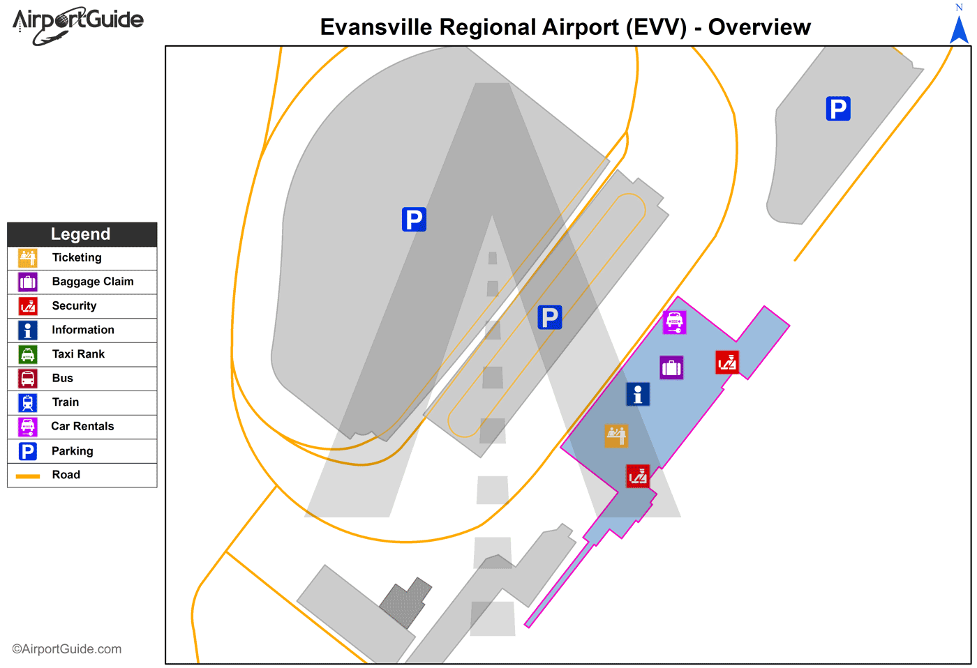Car Rental Evansville In: Evansville Regional (EVV) Airport Terminal