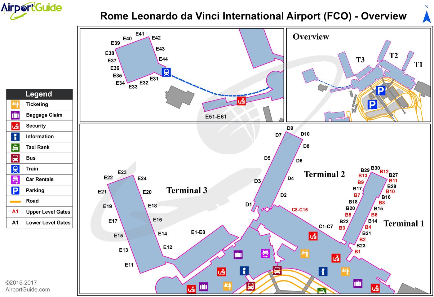 Rome Leonardo Da Vinci Fiumicino International FCO Airport