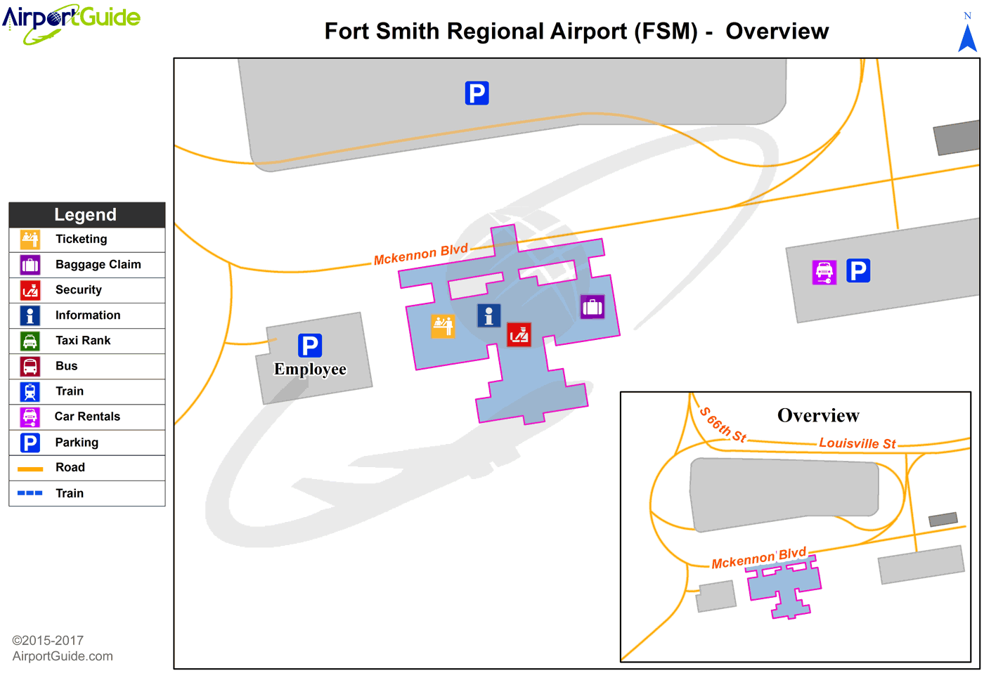 Fort Smith Fort Smith Regional FSM Airport Terminal Maps
