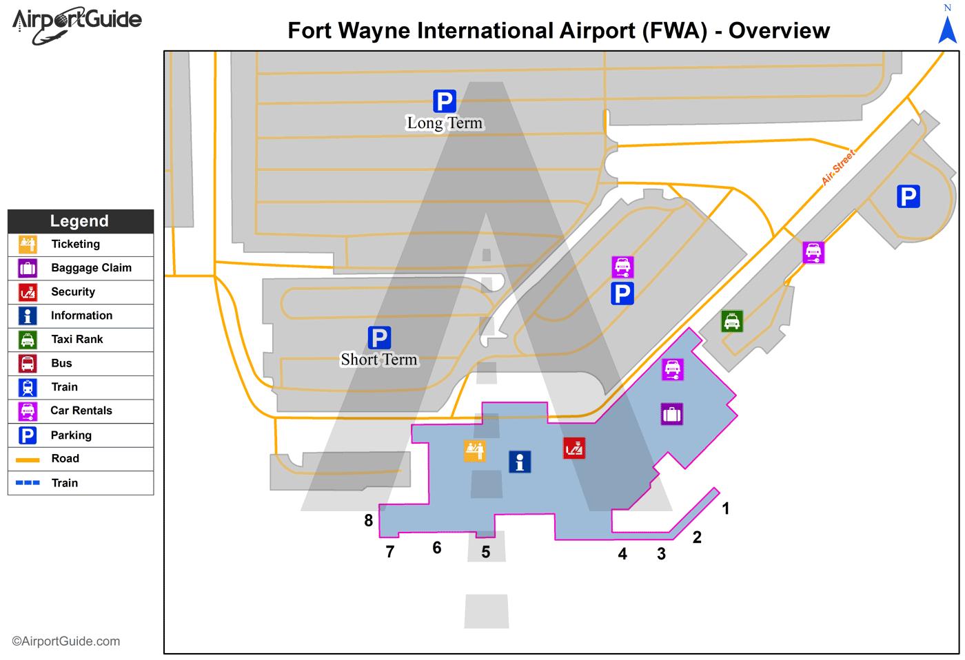 Car Rental Fort Wayne: Fort Wayne International (FWA) Airport