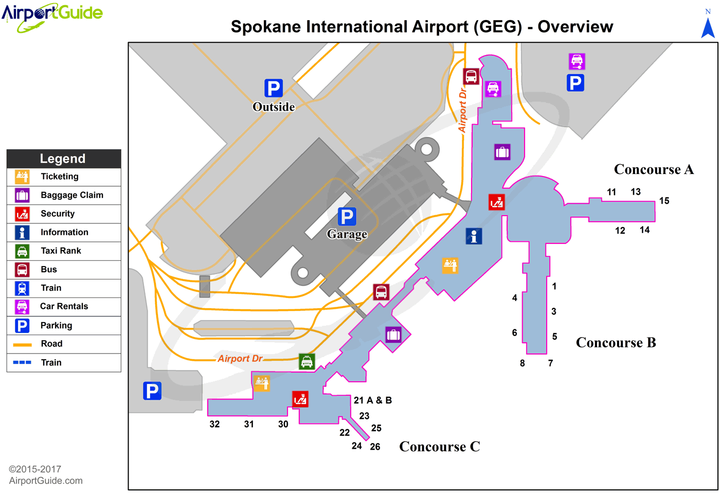 Hotels Near Geg Spokane Airport