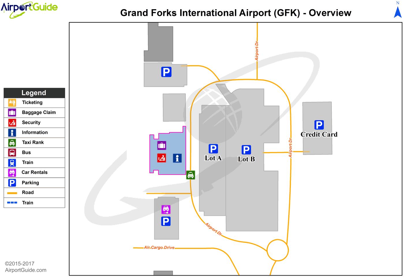 Grand Forks Grand Forks International GFK Airport Terminal Maps