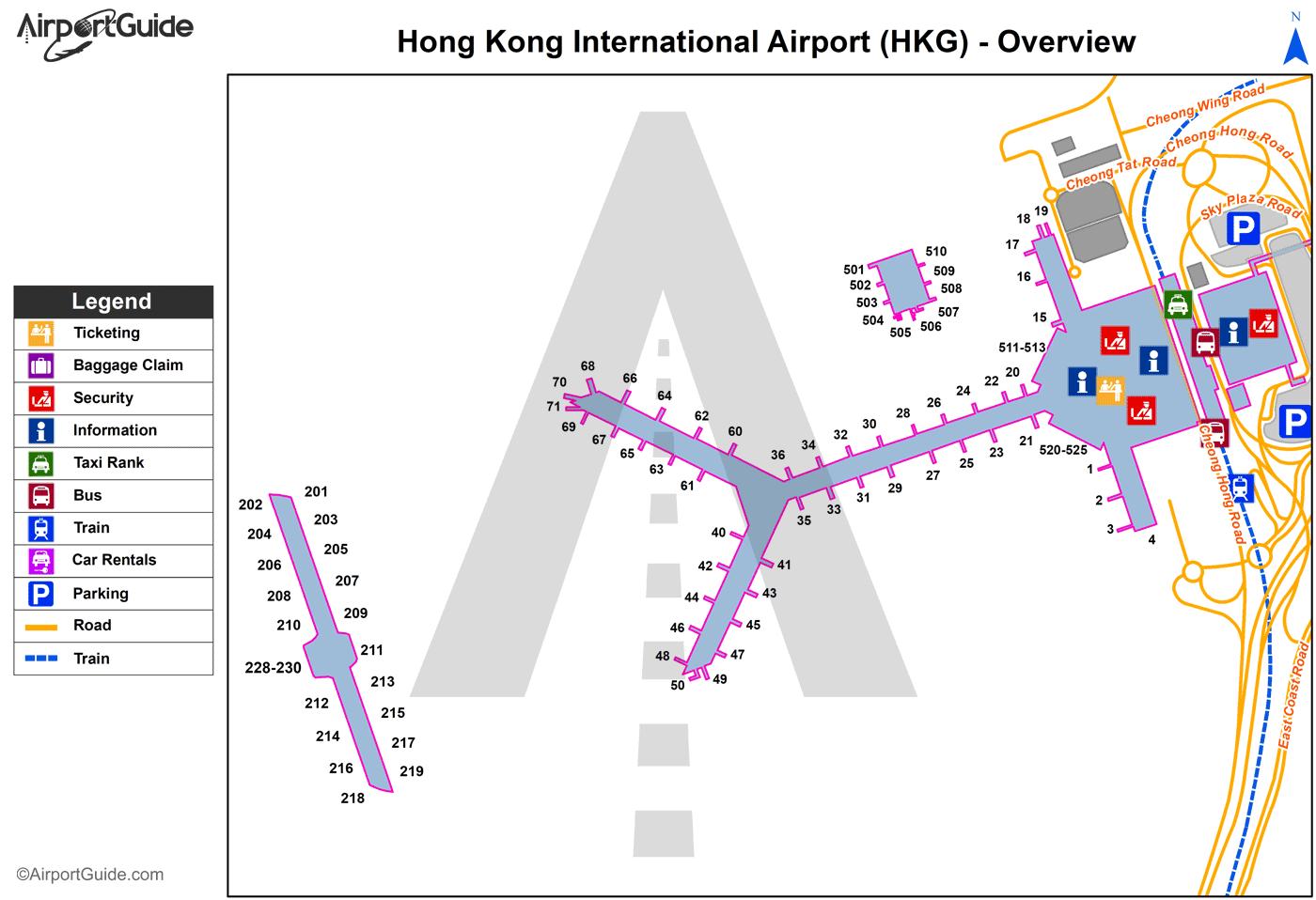 Hong Kong - Chek Lap Kok International (HKG) Airport Terminal Maps ...