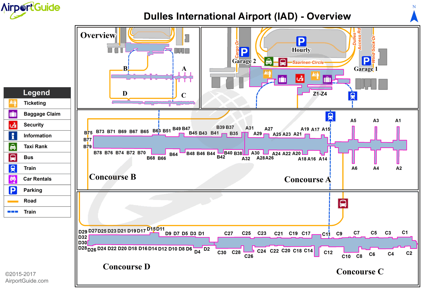 Dulles Terminal Map Washington   Washington Dulles International (IAD) Airport