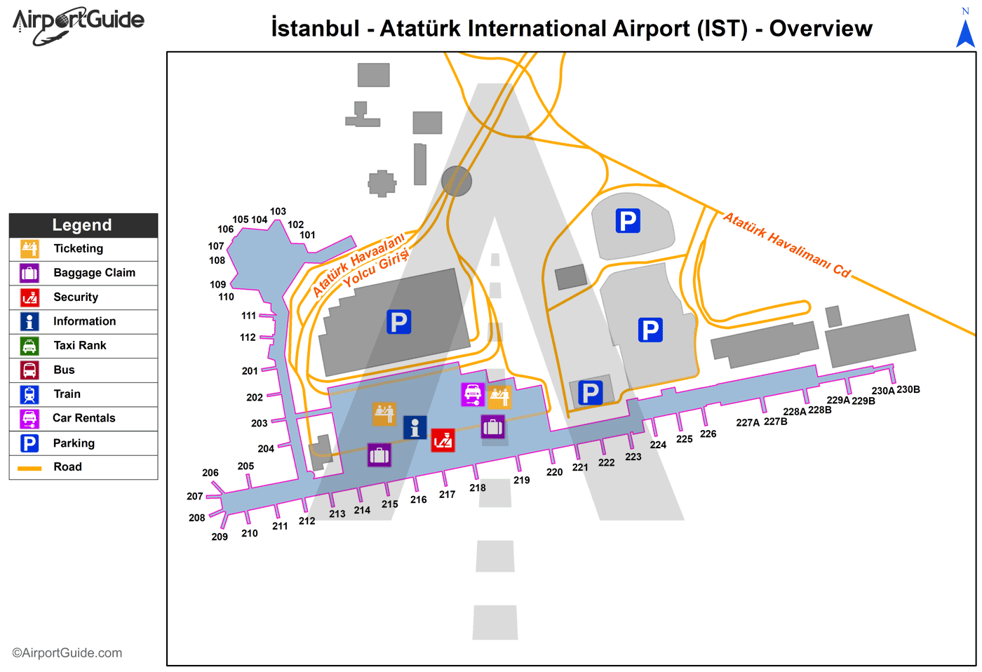 ataturk international airport map Istanbul Ataturk International Ist Airport Terminal Maps ataturk international airport map