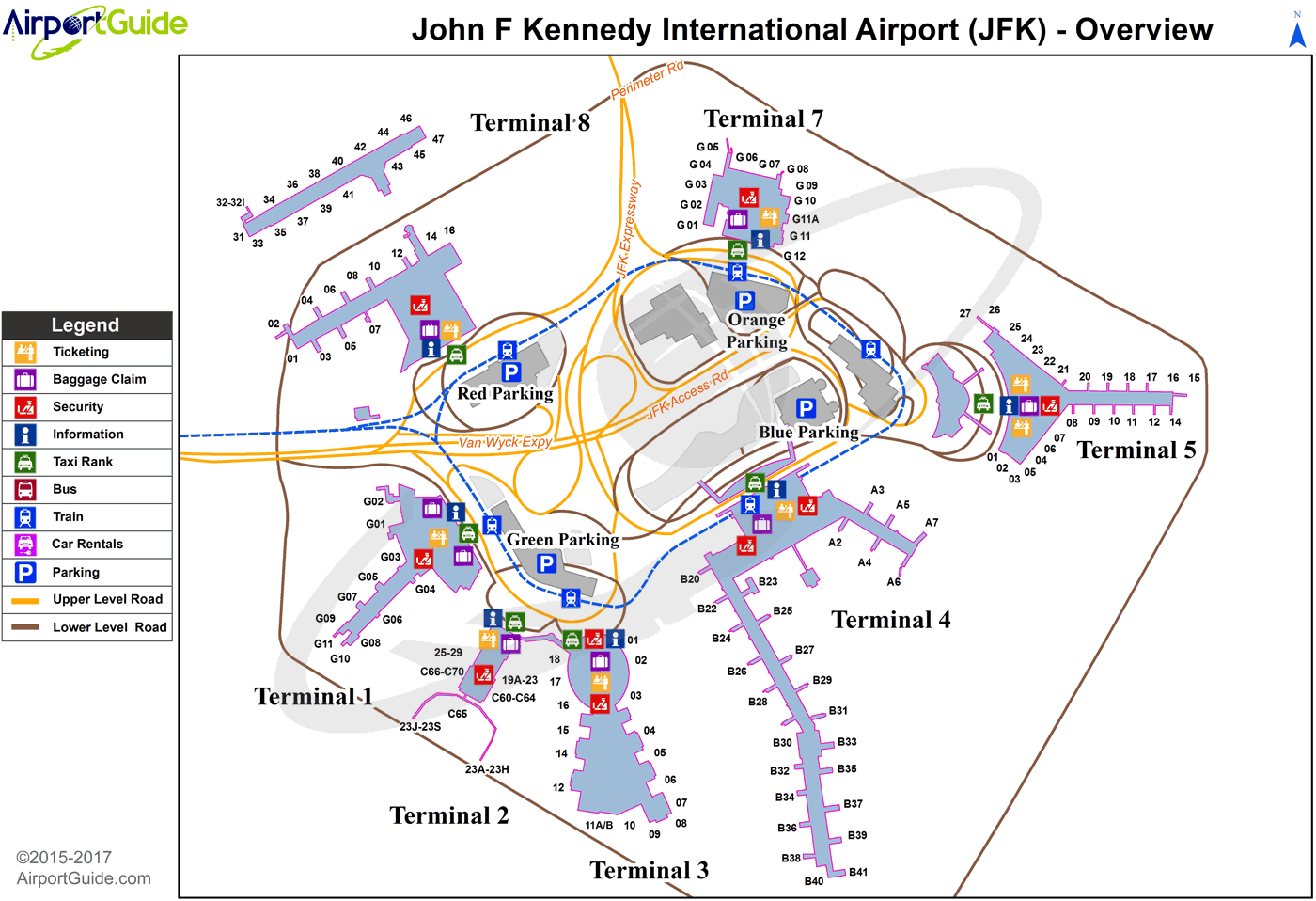 Jfk Airport Map New York   John F Kennedy International (JFK) Airport Terminal  Jfk Airport Map