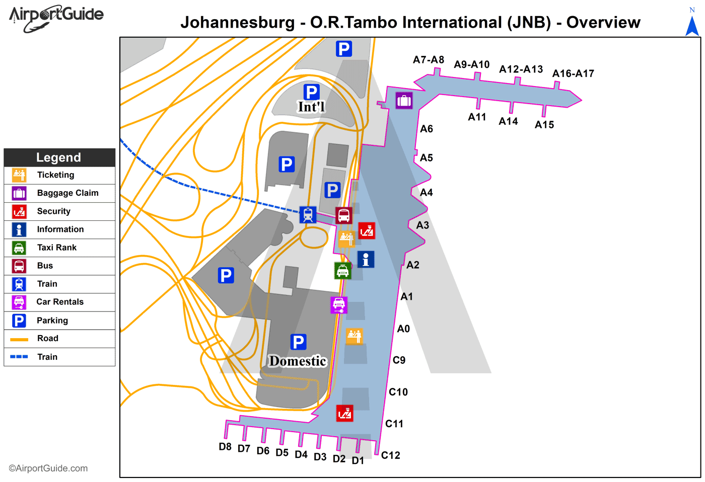 or tambo terminal map Johannesburg Or Tambo International Jnb Airport Terminal Maps or tambo terminal map