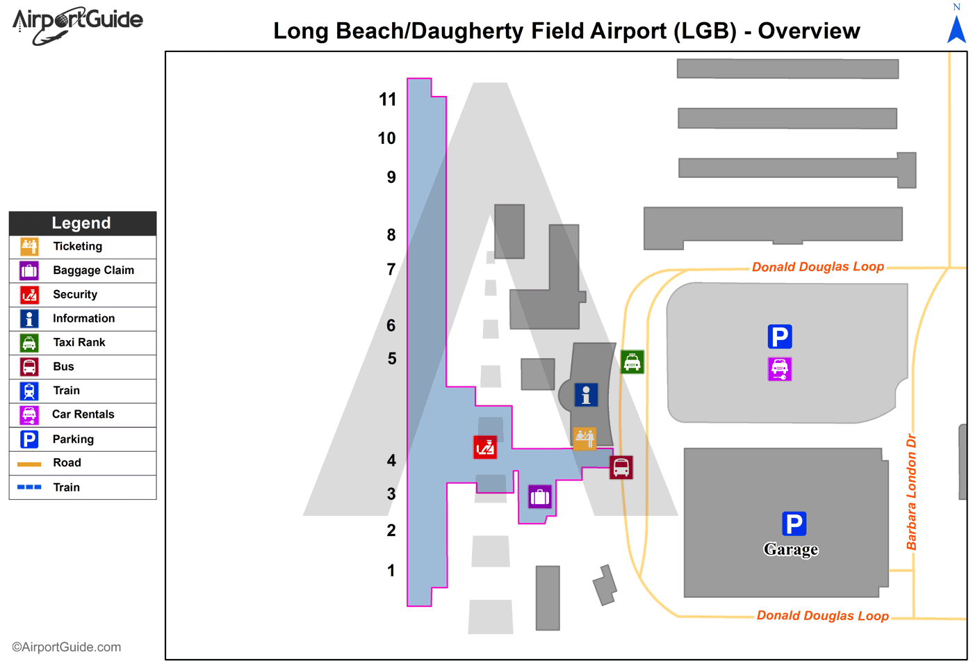 Lgb Airport Map Long Beach   Long Beach /Daugherty Field/ (LGB) Airport Terminal
