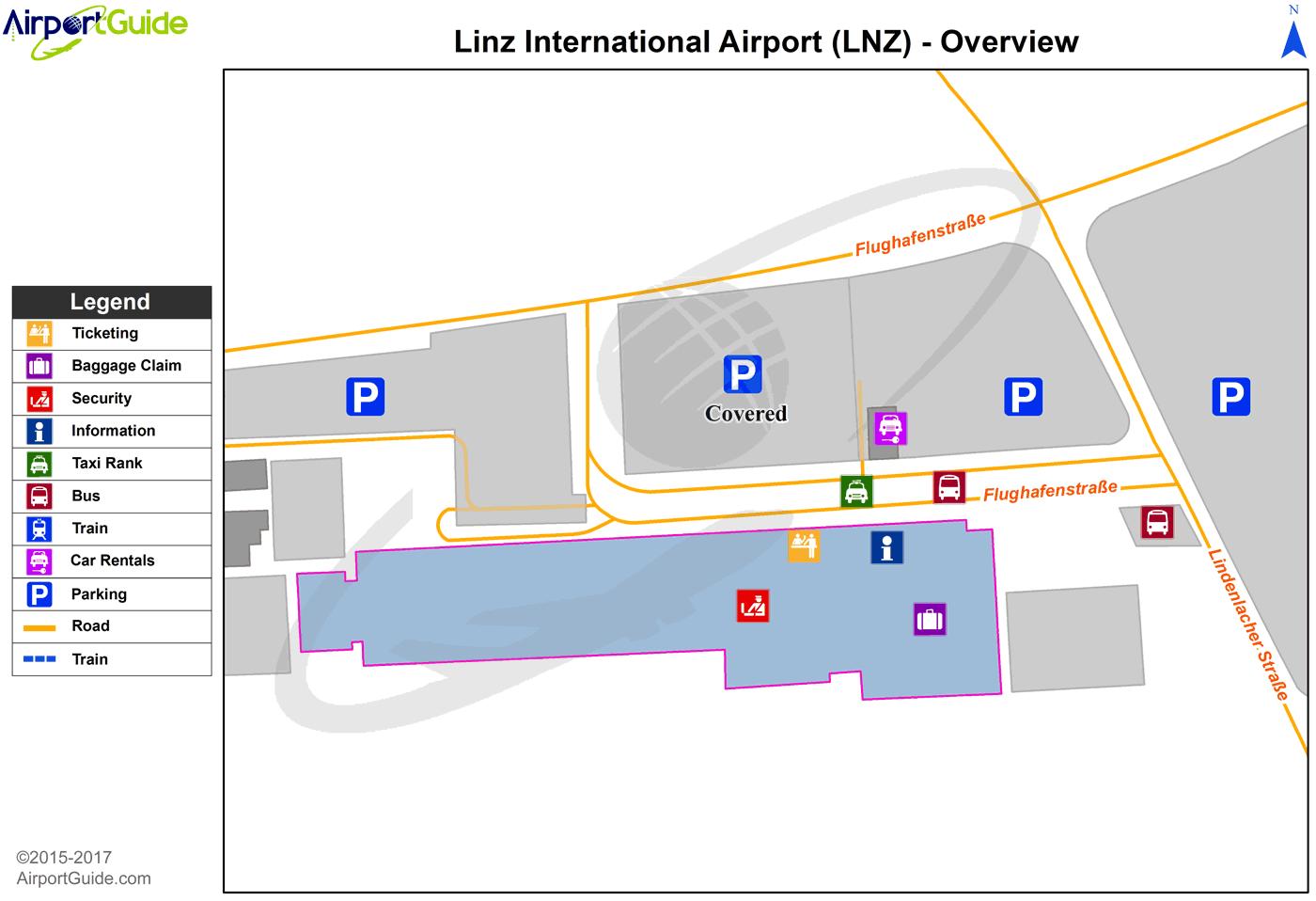Linz Linz LNZ Airport Terminal Maps TravelWidgetcom