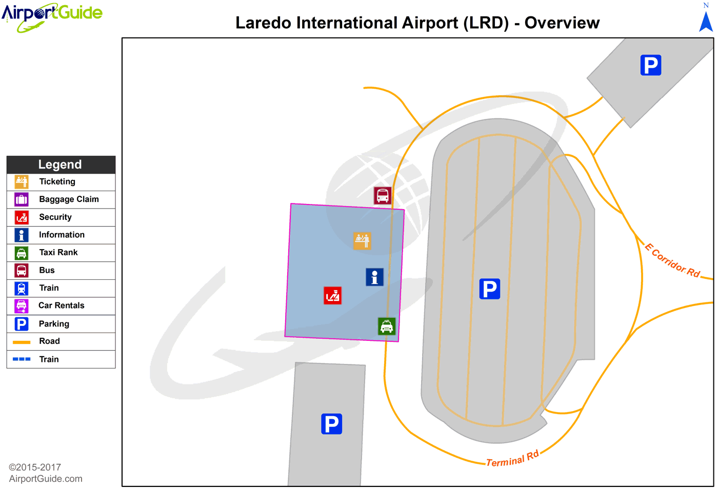 Laredo Laredo International LRD Airport Terminal Maps