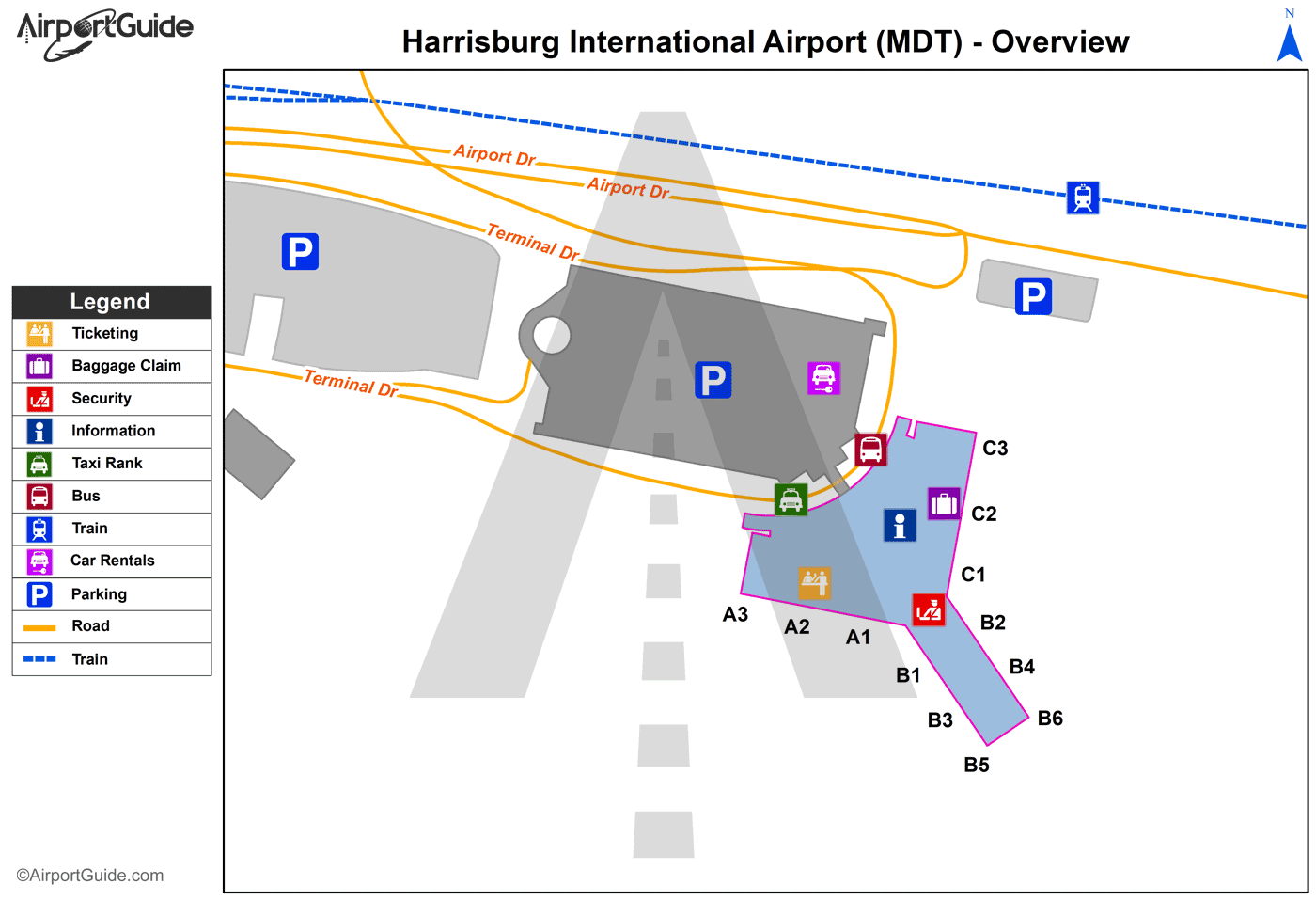 Harrisburg Harrisburg International Mdt Airport
