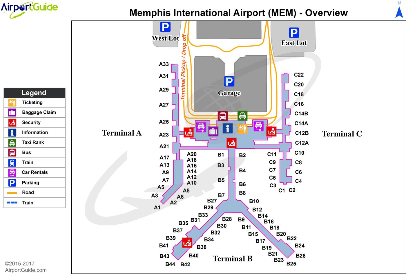 Memphis Memphis International Mem Airport Terminal