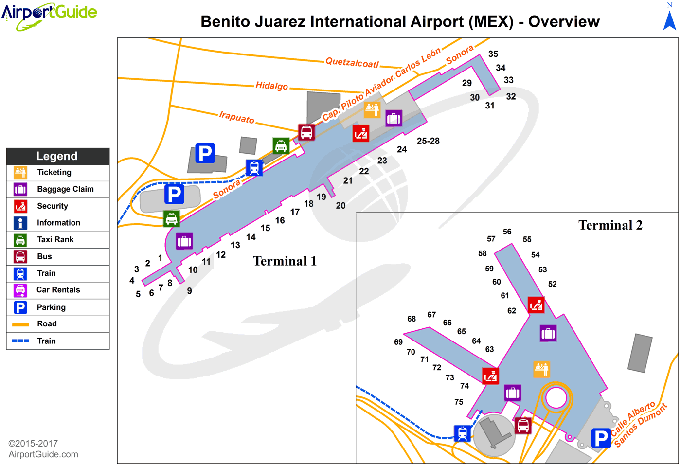 Benito Juarez Mexico Map.Mexico City Licenciado Benito Juarez International Mex Airport