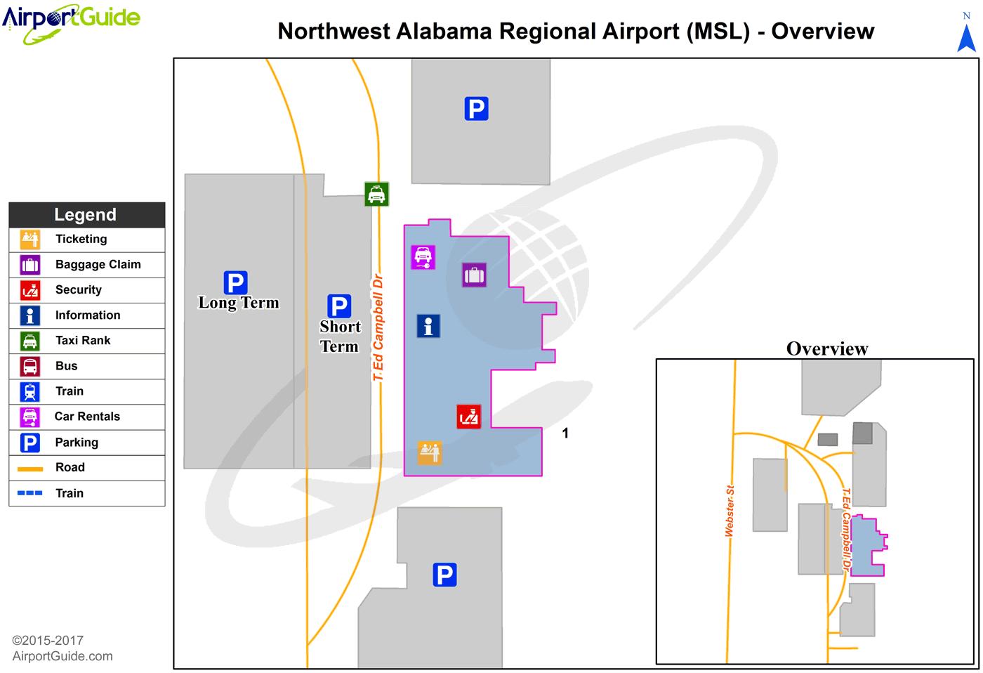 Muscle Shoals  Northwest Alabama Regional MSL Airport Terminal