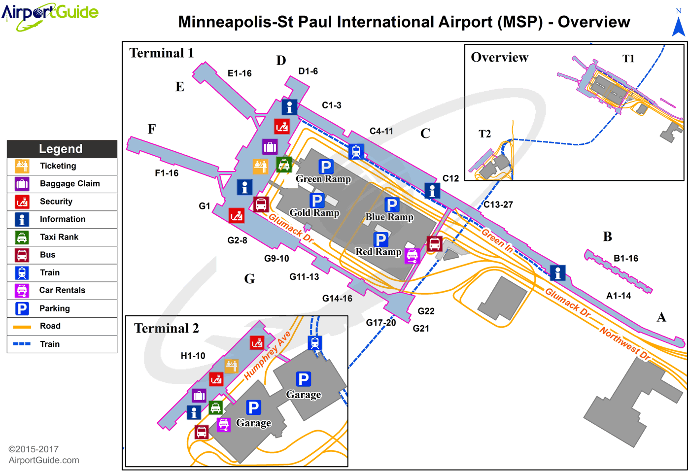 Minneapolis Airport Terminal Map Minneapolis   Minneapolis St Paul International/Wold Chamberlain  Minneapolis Airport Terminal Map