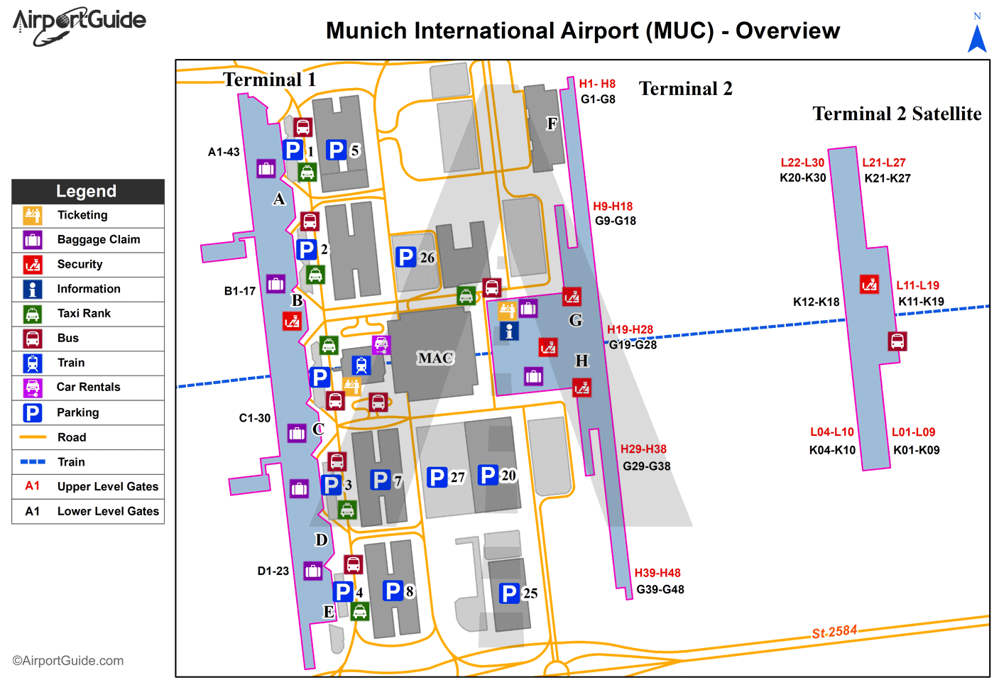 Munich Munich International MUC Airport Terminal Maps