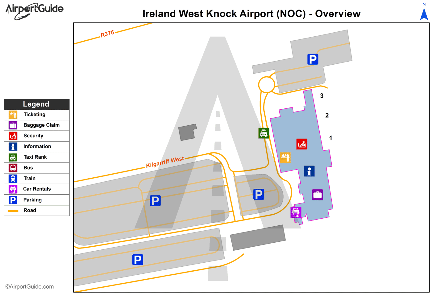 Map Of Ireland Knock.Charleston Ireland West Knock Noc Airport Terminal Maps