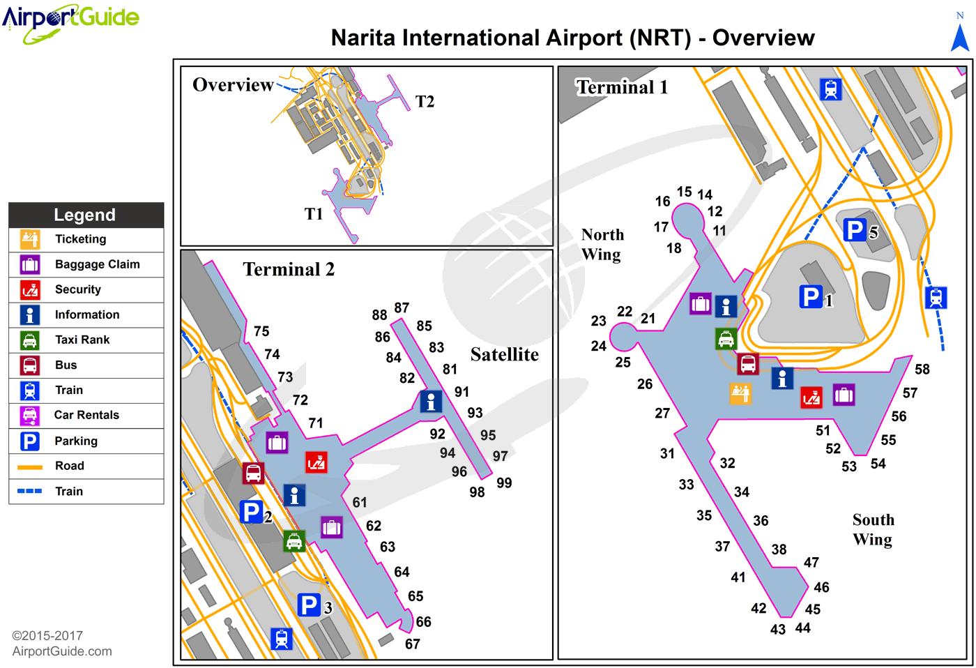 Tokyo Narita International NRT Airport Terminal Maps