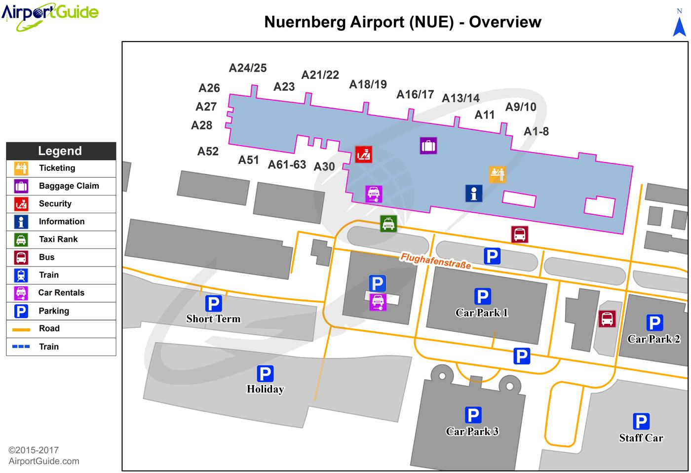 Nuremberg Nuremberg NUE Airport Terminal Maps TravelWidgetcom