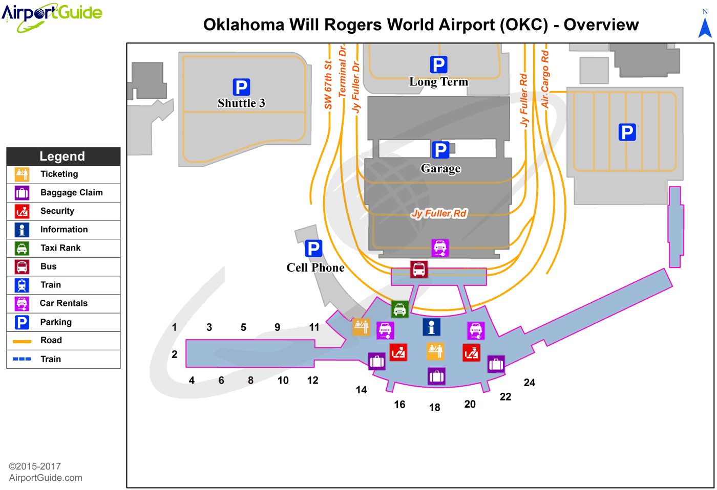 will rogers world airport map Oklahoma City Will Rogers World Okc Airport Terminal Maps will rogers world airport map