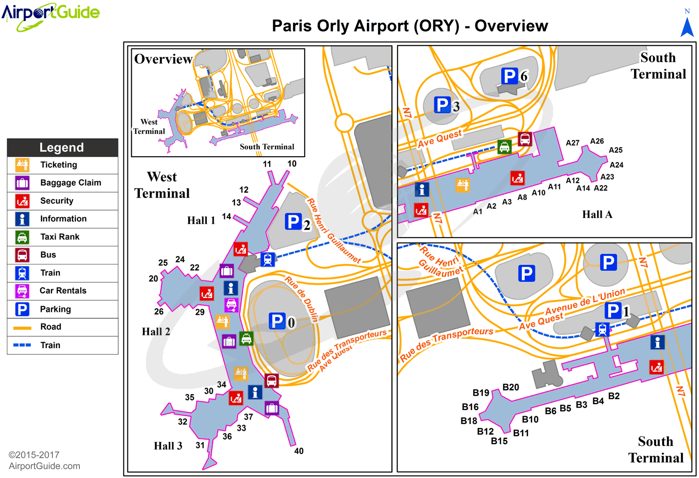 Orly Airport Map Paris   Paris Orly (ORY) Airport Terminal Maps   TravelWidget.com