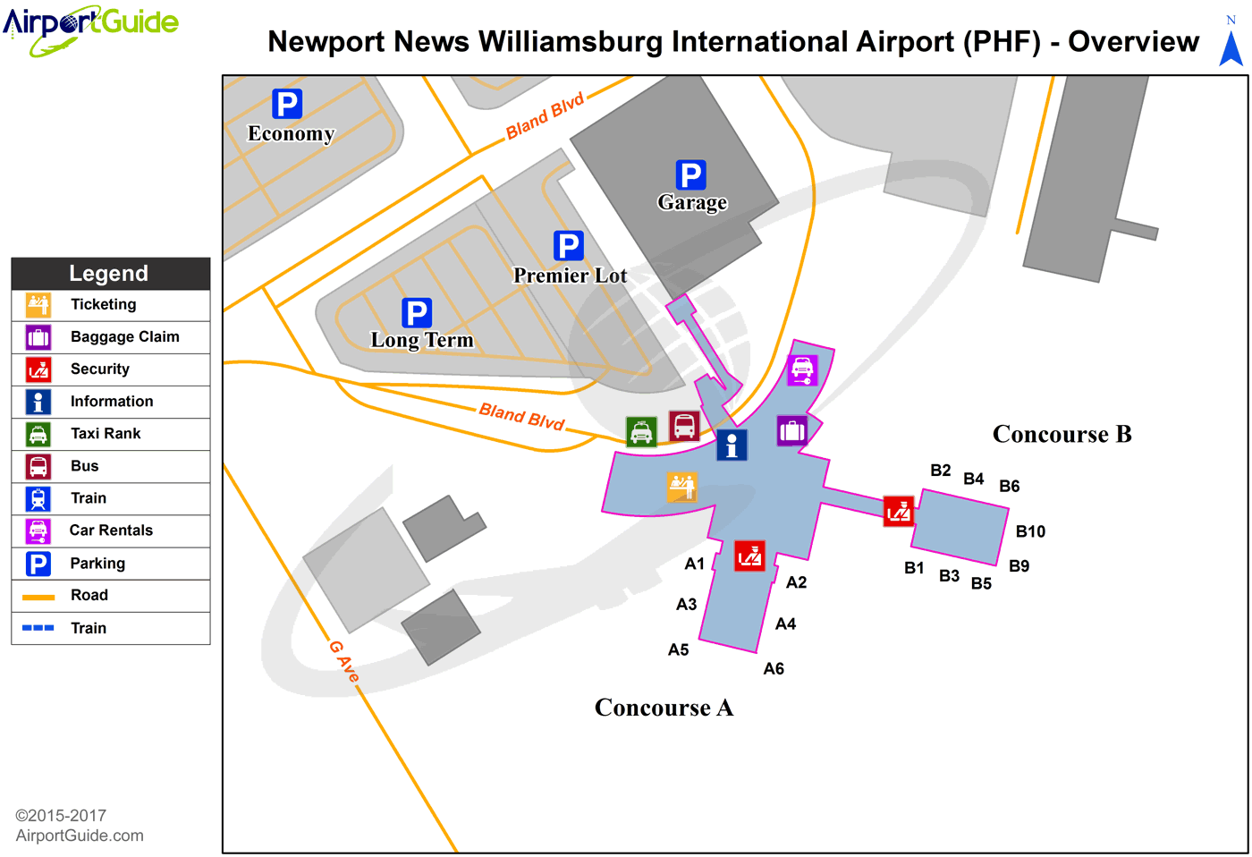 maps directions from to with Newport News Williamsburg International Phf Airport Terminal Map on Amstetten together with Chris Castile moreover Government moreover Strategic Planning Cycle furthermore Index.
