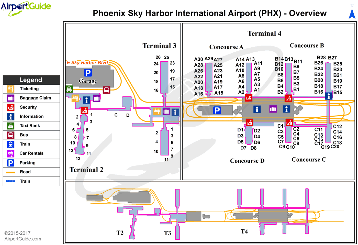 Phoenix Phoenix Sky Harbor International Phx Airport